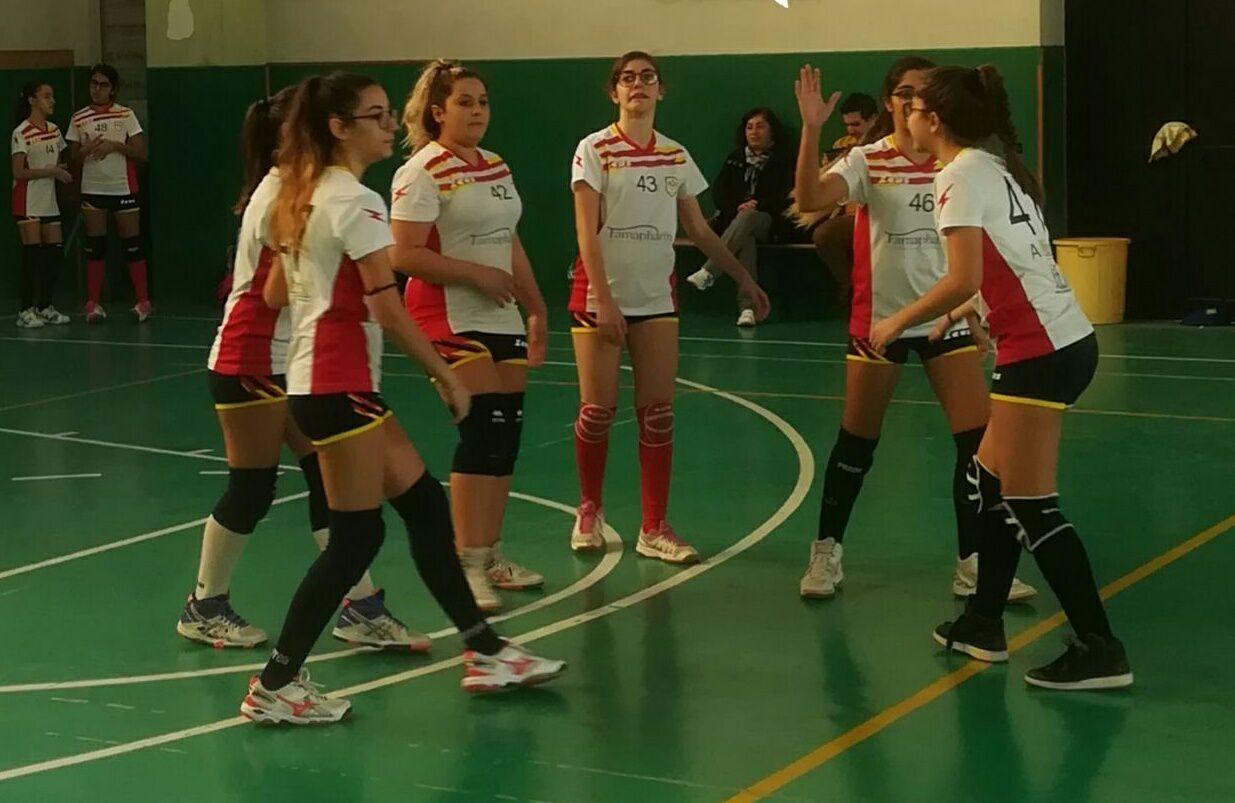 Le atlete del Mondo Volley durante la partita con Nizza