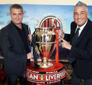 Massaro e la Coppa Campioni vintadal Milan