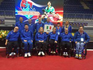 Pongisti azzurri alla scorsa edizione dei Mondiali