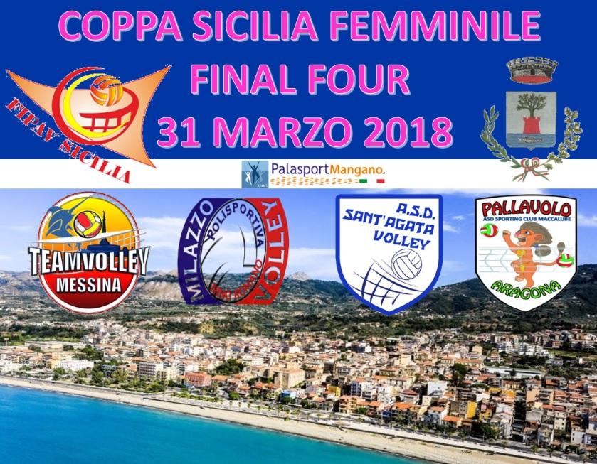 la locandina della Final Four di Coppa Sicilia