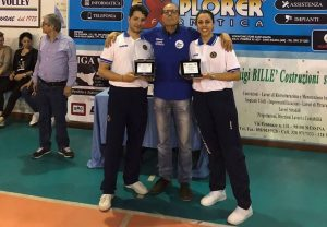 Sebastiano Rizzotto ed Erika Burrascano con Serafino Ilacqua