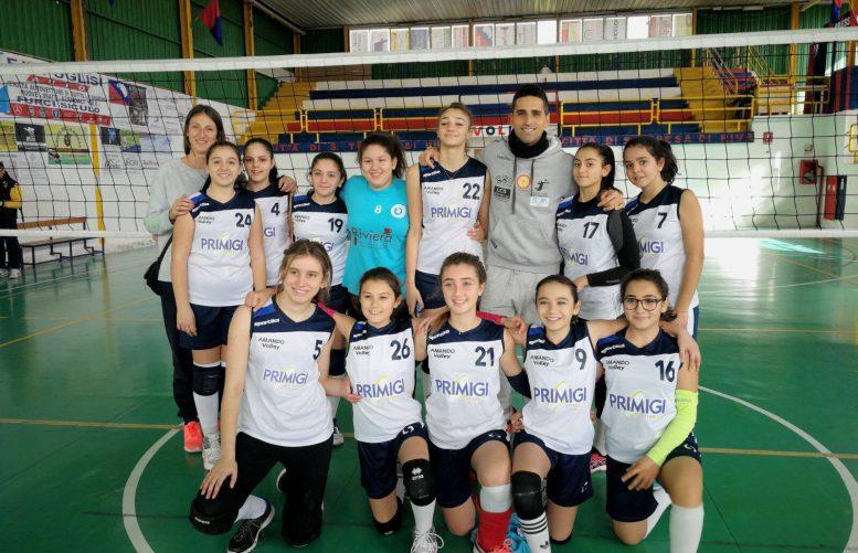 Una formazione giovanile dell'Amando Volley