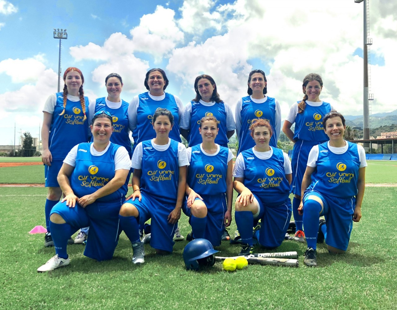 Le ragazze del CUS Unime softball