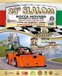 La locandina dello Slalom di Rocca-Novara