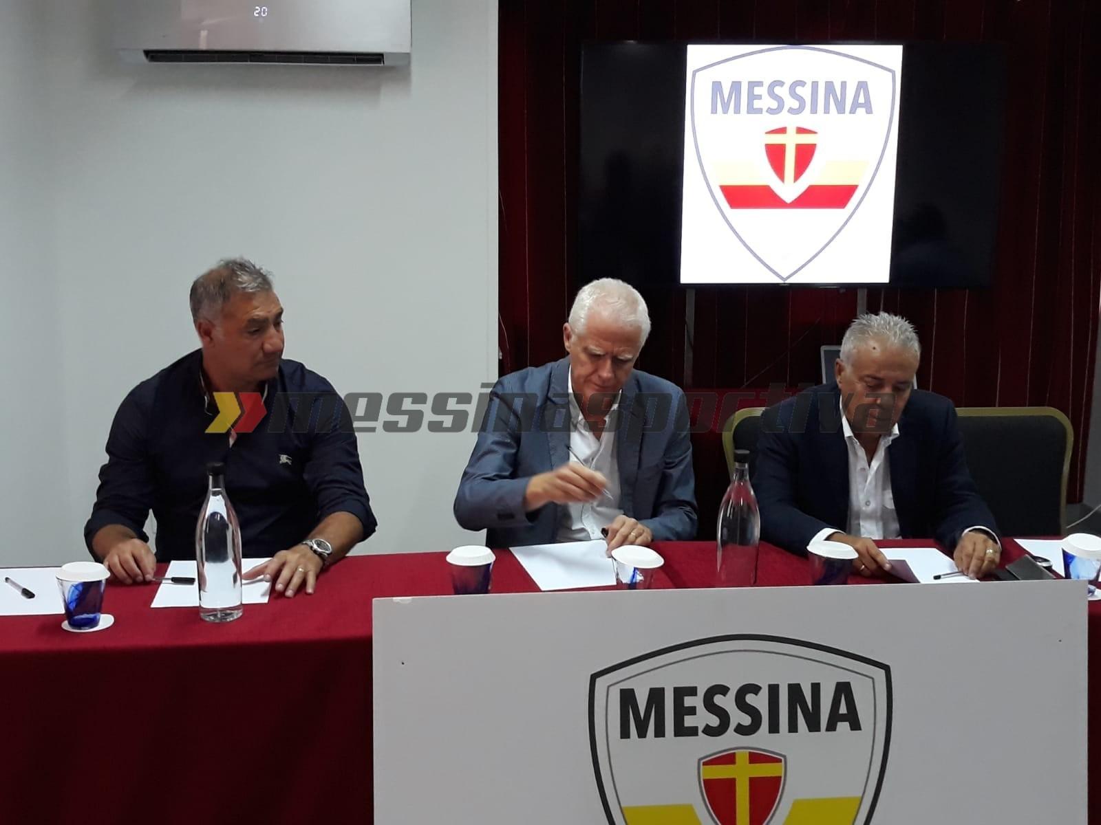 L'ACR Messina presenta alla stampa il nuovo tecnico, Pietro Infantino ed il nuovo direttore sportivo, Adriano Polenta