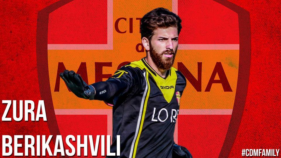 Zura Berikashvili un nuovo calciatore del Citt di Messina