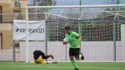 Mondello, capitano del Camaro, trasforma un calcio di rigore (foto Federica De Francesco)
