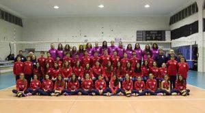 Foto di gruppo della Play Volley Barcellona