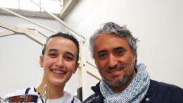 Marta Cannata con il maestro Papalia