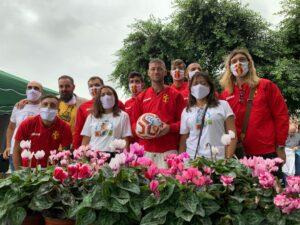 Fc Messina e Amici dei bimbi in corsia (foto Familiari)