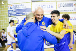 La gioia dello staff tecnico di Torrenova