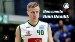 Rain Raadik, il nuovo centro del Basket School Messina